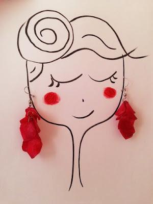 agathe, albane devouge, boucles d'oreilles rouges, dessin, humour, illustration, illustratrice, pommettes rouges,