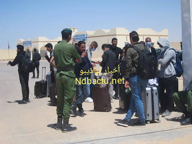 نواذيبو : فتح الحدود لعودة 150 طالبا موريتانيا بالجامعات المغربية..- صور