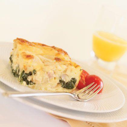 Ham, Cheese, and Spinach Strata Recipe