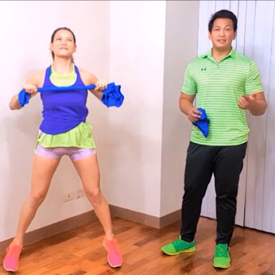 Jim and Toni Saret standing free workout trainers