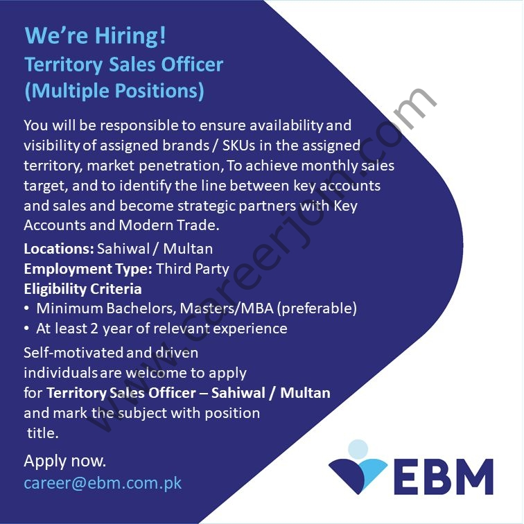 English Biscuit Manufacturers Pvt Ltd EBM Jobs August 2021