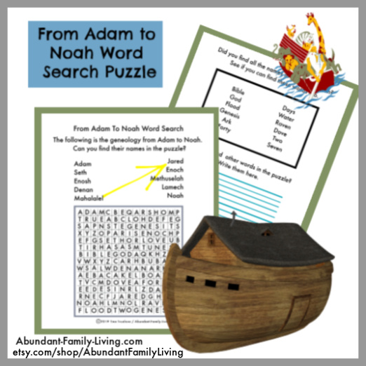 The Genealogy Record from Adam to Noah