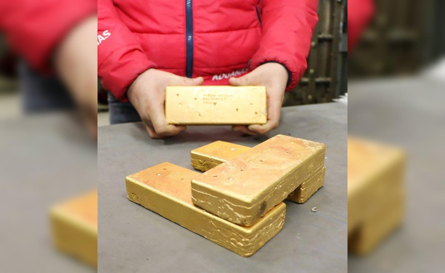 Lingotes de oro salen a remate precio mínimo parte en $34.589.000
