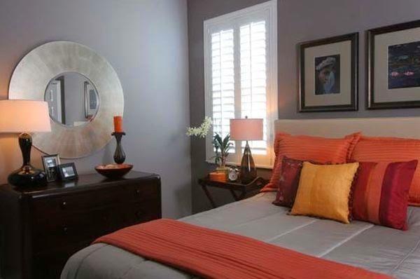Habitación naranja gris