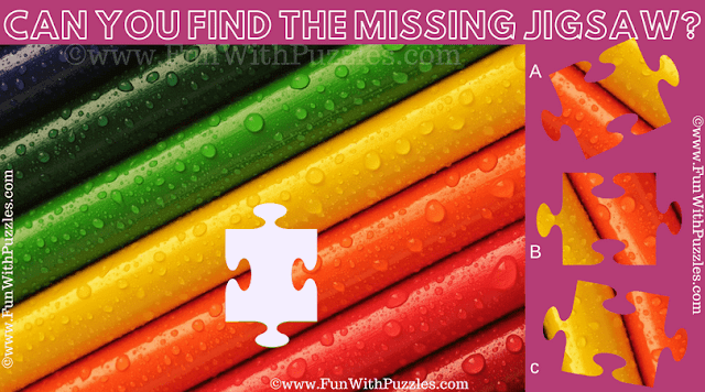 It is Colorful Jigsaw Puzzle in which one has to find the missing Jigsaw Piece