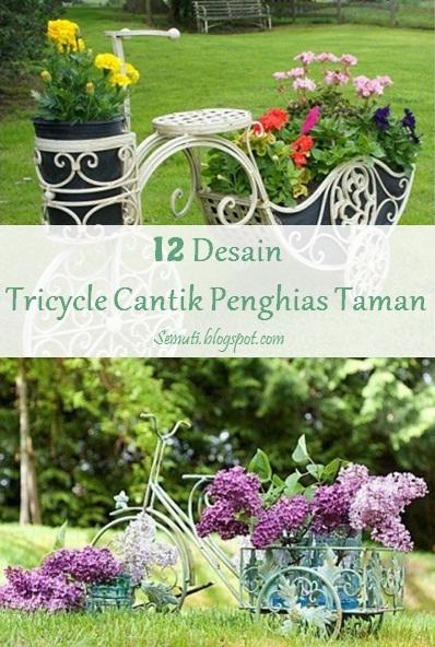 12 Desain Tricycle Cantik Penghias Taman