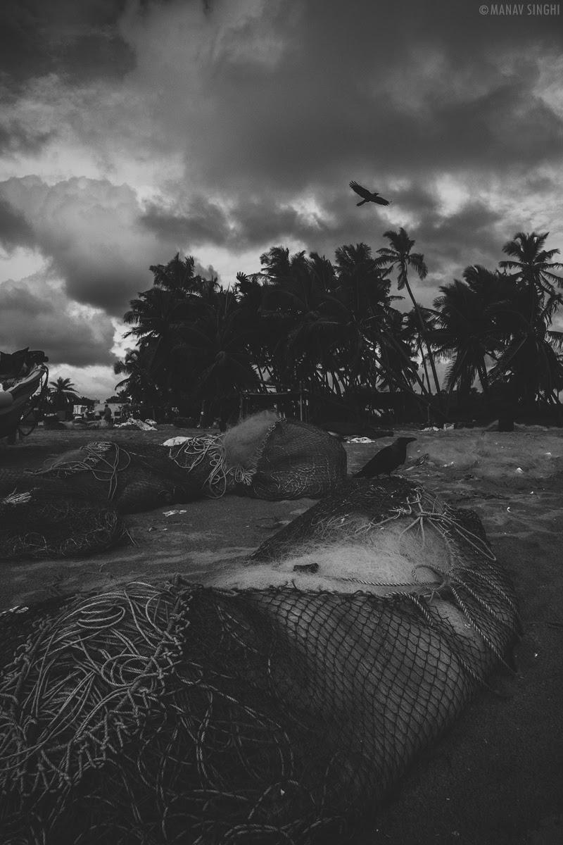 Shot at Fisherman Area near Le Pondy Beach Resort Pondicherry - 29-Oct-2019