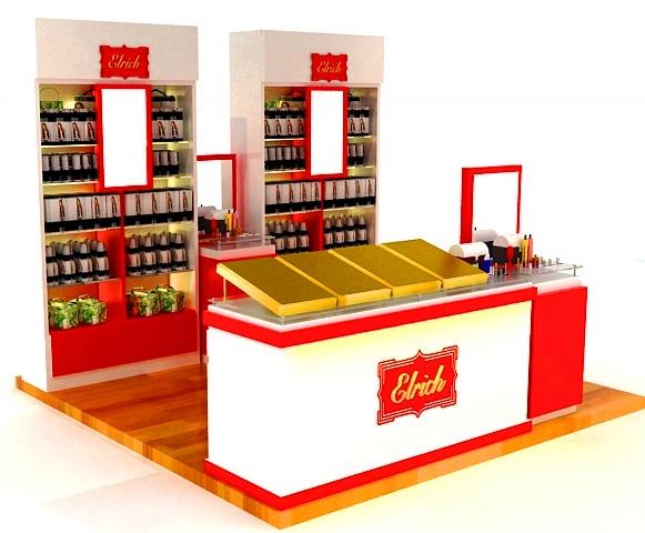 Booth makanan-Gerai toko parfum-Display toko parfum