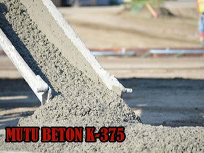 HARGA BETON JAYAMIX K375, MUTU BETON K375, HARGA BETON COR K375