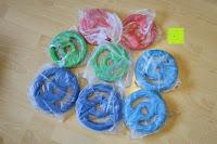 Verpackung Scheiben: Langhantel GEPOLSTERT inkl. Federverschluss / Gewichtsvarianten 2kg 4kg 6kg 8kg 10kg 12kg 14kg 18kg 20kg in unterschiedlichen Farben
