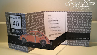 VW Bug Shutter Card, open wide. By Grace Baxter