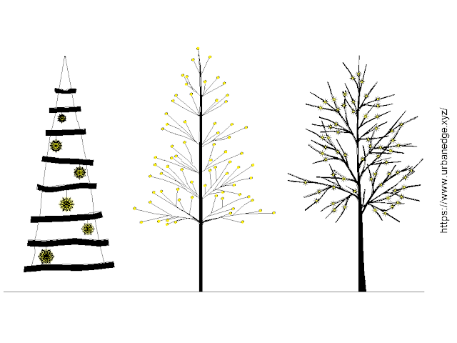 Trees with lights free cad blocks download - 3+ free cad blocks