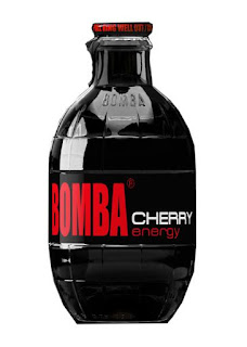 Stock image of Bomba Cherry Energy Drink, from Big Lots