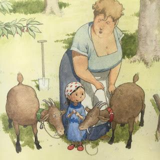 """""""Omas freche Ziegen"""" von Nathalie Daoût, illustriert von Vincent Hardy, erschienen im Orell Füssli Verlag, Rezension von Kinderbuchblog Familienbücherei"""