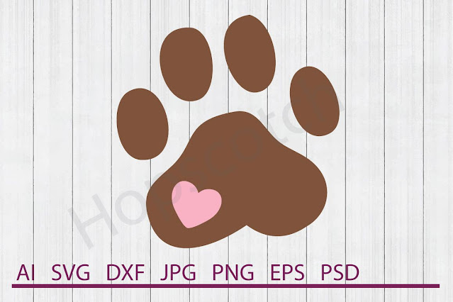 paw print file from Design Bundles
