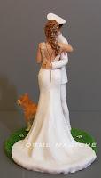 cake topper eleganti sculture luxury per torta nuziale create a mano sposa gioielli orme magiche