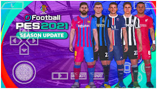 Download eFootball PES 2021 PPSSPP CV2 Android New Update Jersey 2022 & English Version (PETER DRURY)