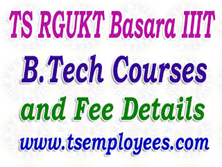 TS RGUKT Basara IIIT B.Tech Courses and Fee Details