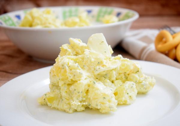 Ensalada de Patatas con Salsa de Yogur. Vídeo Receta