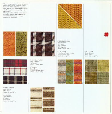 Den Permanente catalog 1972, fabric selections