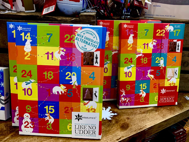 Montezuma's Like No Udder (milk alternative) advent calendar and Kids Mixed milk and white chocolate advent calendar