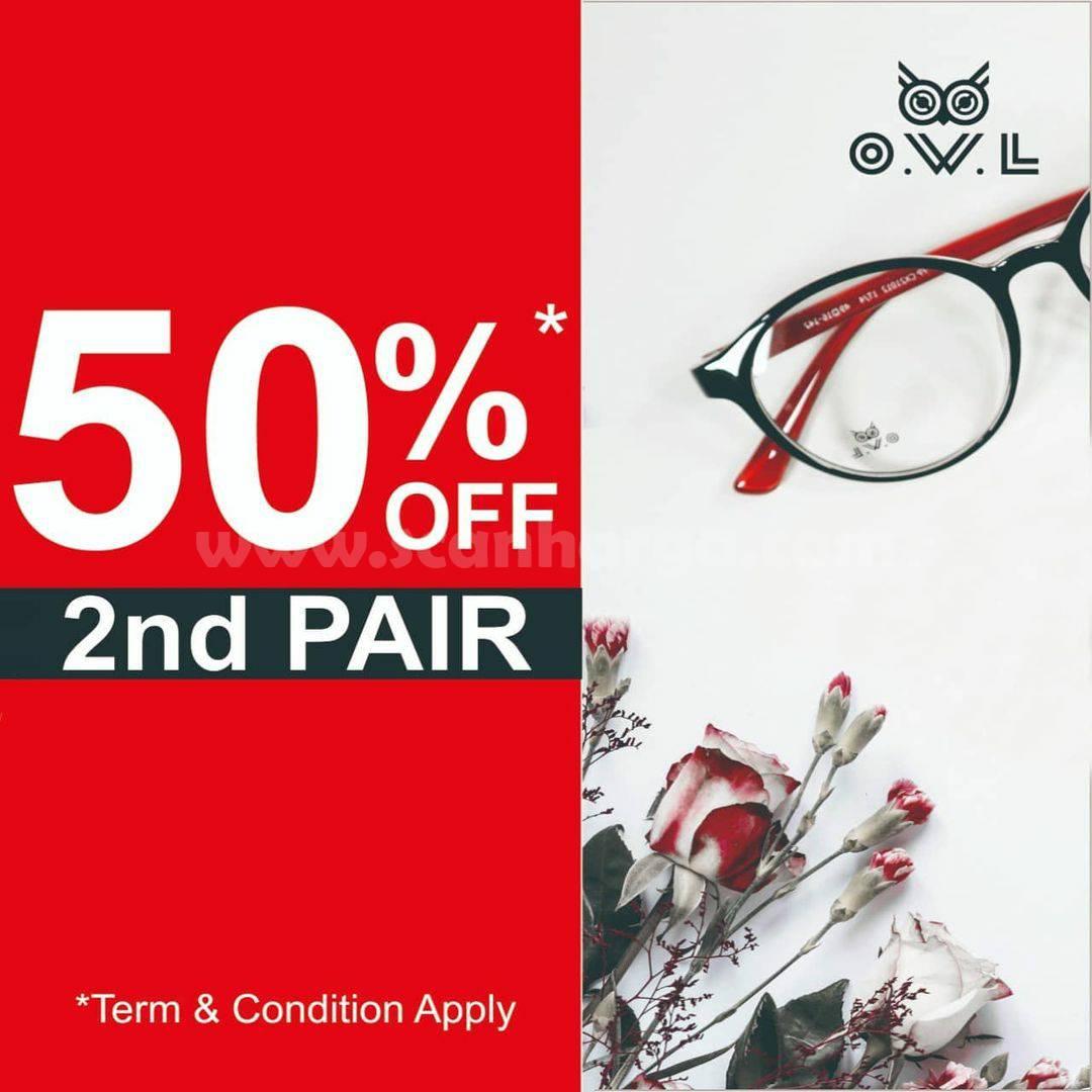 Promo OWL EYEWEAR Disc. 50% Off For 2nd Pair