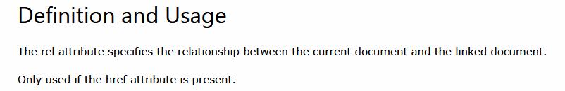 Atribut Rel Menurut W3Schools