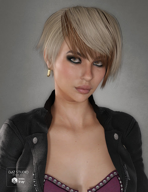 Duffy Hair for Genesis 3 and 8 Female