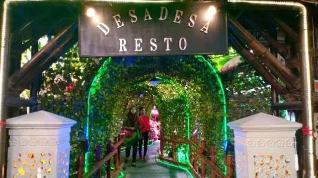 tempat makan bernuansa alam di Medan, Desa-Desa Resto & Cafe