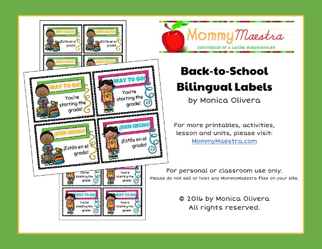 free download bilingual back to school labels