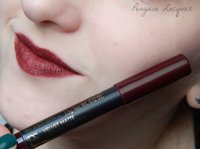 ps love velvet matte lipstick shameless mit stift