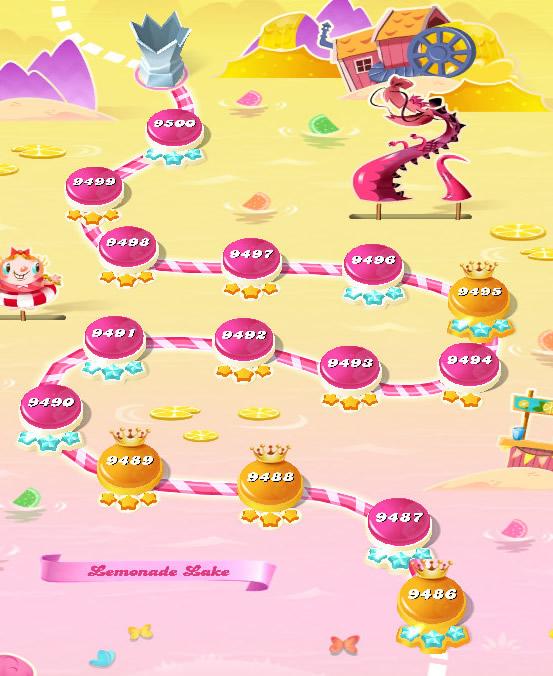 Candy Crush Saga level 9486-9500