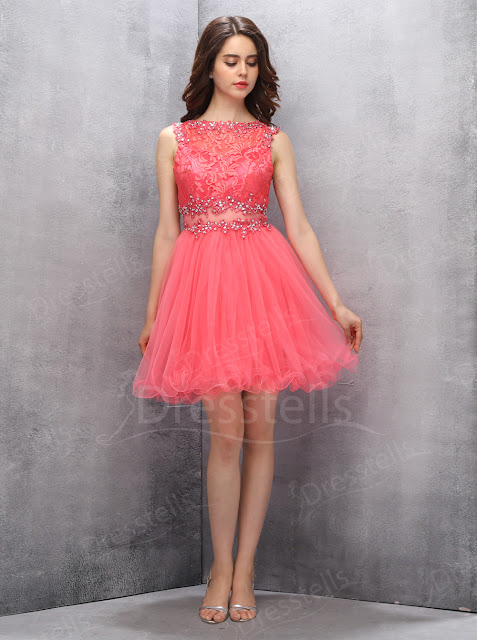 https://www.dresstells.com/a-line-scoop-short-coral-organza-homecoming-dress-with-appliques-lace-sequins.html