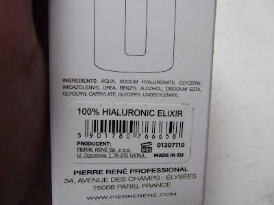 Pierre René Medic Laboratorium 100% elixír kyseliny hyalurónovej zloženie
