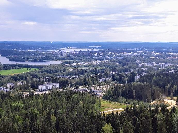Jyväskylässä Matti Nykäsen mäen näkötornista on hienot maisemat / Laajavuori kesä 2019