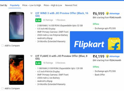 Flipkart, LYF Wind 3, Flame 8, Reliance Budget Phones,Smartphones, Ajay Yadav, Reliance Jio 4G