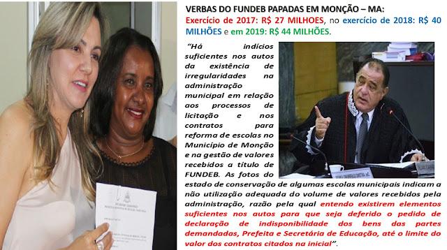BOMBA!! Desembargador constata grande corrupção na Prefeitura de Monção no MA – a quadrilha PAPA-TUDO engoliu as verbas da educação sem dó e piedade