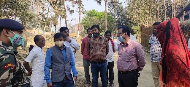 एसडीएम ने की त्योंथ में जल नल की जांच तो खुल गई योजना की कलई