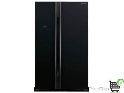 ثلاجة هيتاشي 21 قدم بابين اسود موديل R-S800PS2-GBK