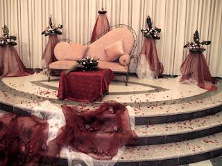 كوشة عروس زهرية أنيقة