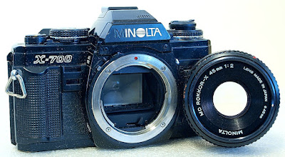 Minolta X-700 (Black) Body #887, Minolta MD 45mm 1:2 #008
