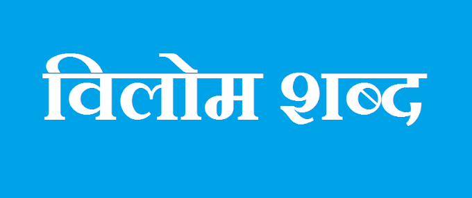 Vilom Shabd (विलोम शब्द) in Hindi Vyakaran, Hindi Grammar