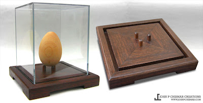 walnut hardwood pysanka egg case