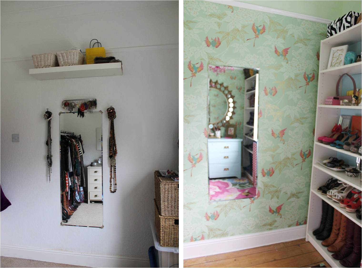 Check out the before and after of my dressing room reveal