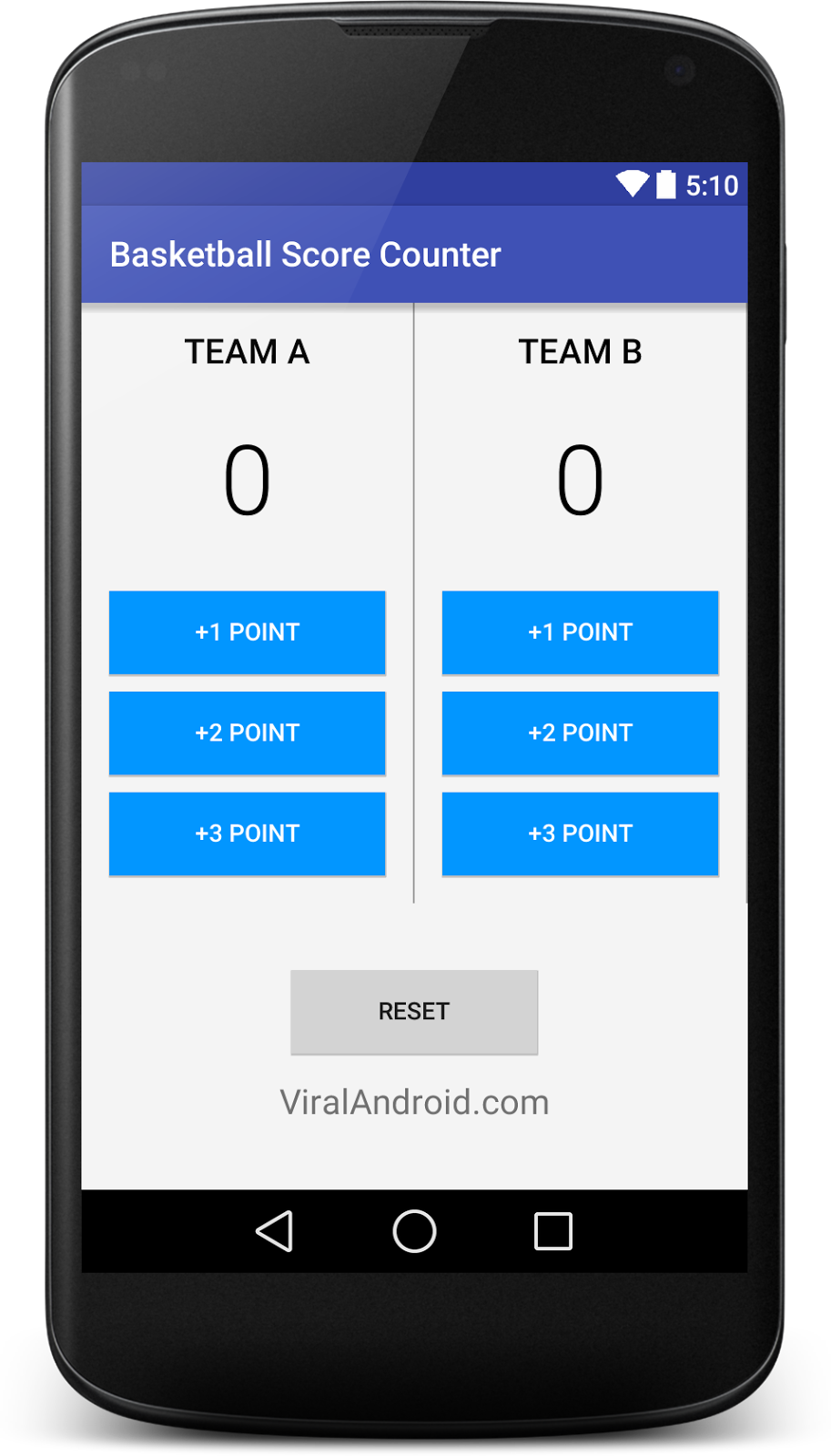 How to Make Basketball Score Counter(Scoreboard) Android Application
