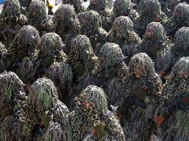 Pakaian Seragam Tentera Pelik  Sut Ghillie