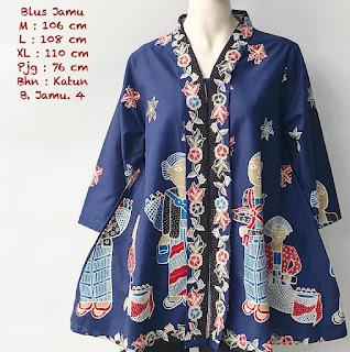 Jual Baju Batik Atasan Wanita Motif Mbok Jamu