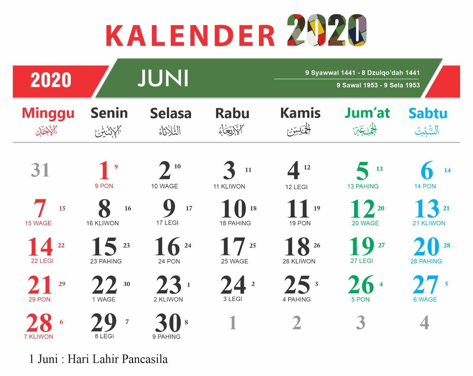 Populer 59+ Kalender Jawa Juni 2020