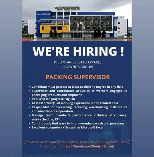Packing Advisor - Lowongan Kerja Batam Terbaru 2021