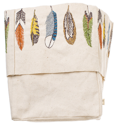 canvas buckets with feather images